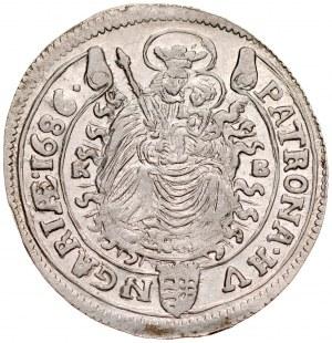 Węgry, Leopold I 1657-1705, XV krajcarów 1686, Kremnica.