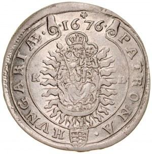 Węgry, Leopold I 1657-1705, XV krajcarów 1676, Kremnica.