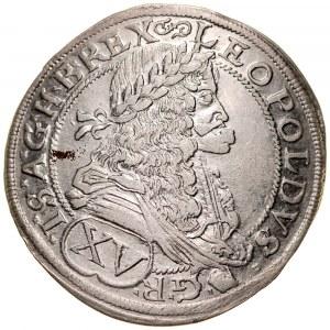 Węgry, Leopold I 1657-1705, XV krajcarów 1675, Bratysława.