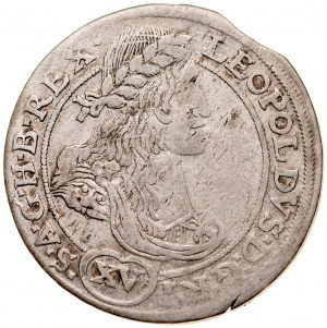 Śląsk, Leopold I 1657-1705, XV krajcarów 1664, Kłodzko.
