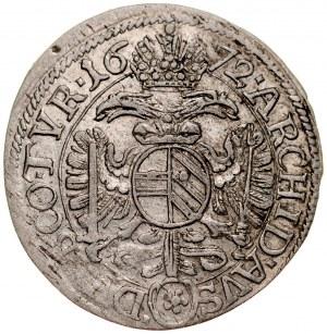 Austria, Leopold I 1657-1705, 3 krajcary 1672, Wiedeń.