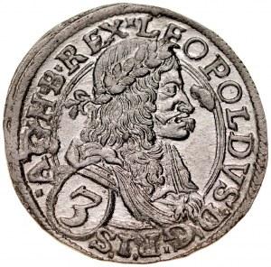 Austria, Leopold I 1657-1705, 3 krajcary 1673, Wiedeń.