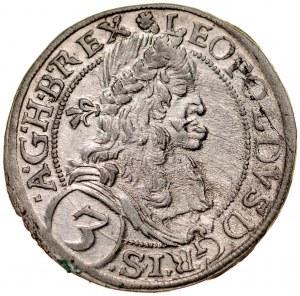 Austria, Leopold I 1657-1705, 3 krajcary 1670, Wiedeń.