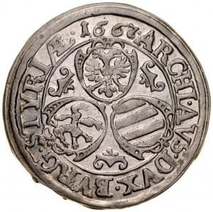 Austria, Leopold I 1657-1705, 3 krajcary 1667, Graz.
