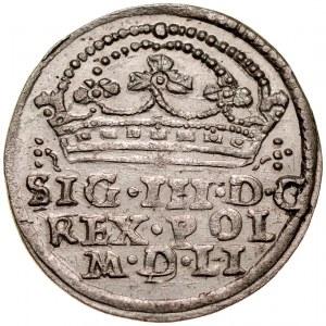 Zygmunt III 1587-1632, Grosz 1608, Kraków.