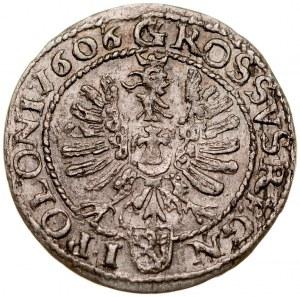 Zygmunt III 1587-1632, Grosz 1606/5, Kraków.