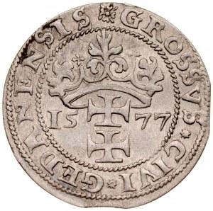 Stefan Batory 1576-1586, Grosz oblężniczy 1577, Gdańsk.