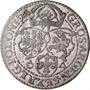 Zygmunt III 1587-1632, Szóstak 1596, Malbork.
