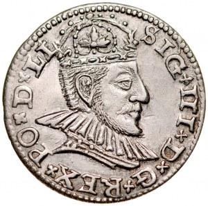 Zygmunt III 1587-1632, Trojak 1590, Ryga.