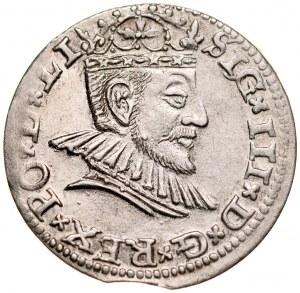 Zygmunt III 1587-1632, Trojak 1591, Ryga.