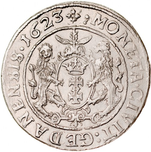 Zygmunt III 1587-1632, Ort 1623, Gdańsk. RRR.