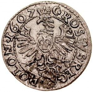 Zygmunt III 1587-1632, Grosz 1607, Kraków.