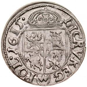 Zygmunt III 1587-1632, Trzykrucierzówka 1615, Kraków.