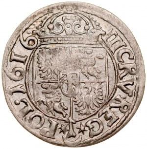 Zygmunt III 1587-1632, Trzykrucierzówka 1616, Kraków.