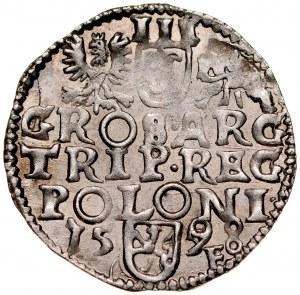 Zygmunt III 1587-1632, Trojak 1598, Wschowa.
