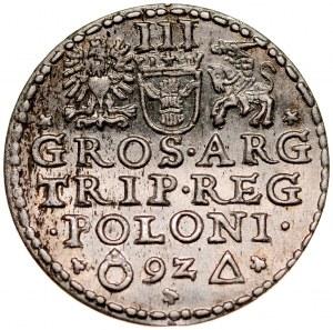 Zygmunt III 1587-1632, Trojak 1592, Malbork.