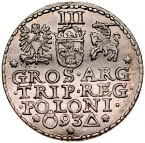 Zygmunt III 1587-1632, Trojak 1593, Malbork.