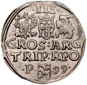 Zygmunt III 1587-1632, Trojak 1599, Poznań.