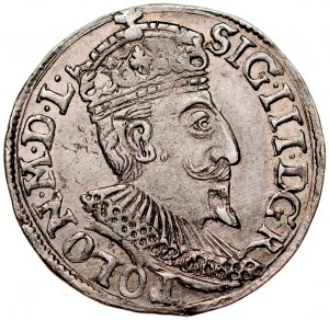 Zygmunt III 1587-1632, Trojak 1595, Olkusz.