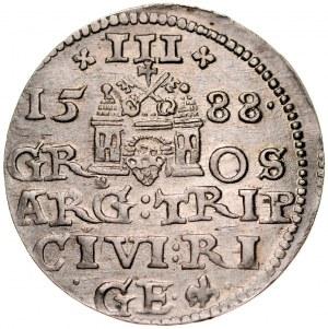 Zygmunt III 1587-1632, Trojak 1588, Ryga.