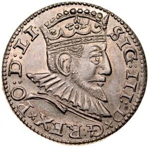 Zygmunt III 1587-1632, Trojak 1592, Ryga.
