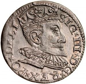 Zygmunt III 1587-1632, Trojak 1596, Ryga.