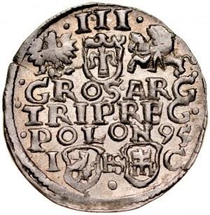 Zygmunt III 1587-1632, Trojak 1595, Bydgoszcz.