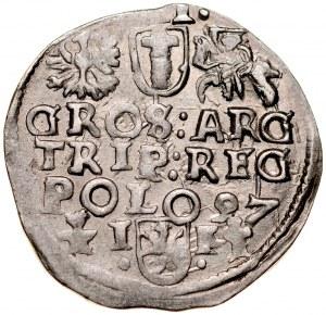 Zygmunt III 1587-1632, Trojak 1597, Wschowa.