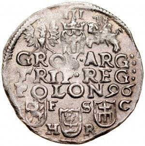 Zygmunt III 1587-1632, Trojak 1596, Bydgoszcz.