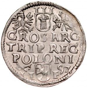 Zygmunt III 1587-1632, Trojak 1592, Poznań.