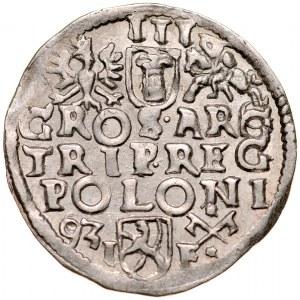 Zygmunt III 1587-1632, Trojak 1593, Poznań.