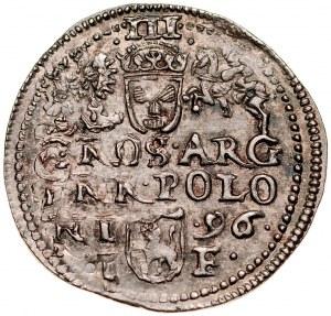 Zygmunt III 1587-1632, Trojak 1596, Olkusz.