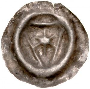 Pomorze Wschodnie, Sambor II 1217-1278, Brakteat guziczkowy, wg. Prof. Paszkiewicza Pomorze Gdańskie, Av.: Gwiazda na tarczy.