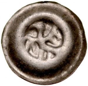 Władysław Łokietek 1306/1320-1333, Księstwo Sandomierskie ok. 1320 r. lub Wielkopolska, książęta głogowscy (Henryk Głogowski?) w latach 1306-1314, Av.: Orzeł kroczący w lewo.