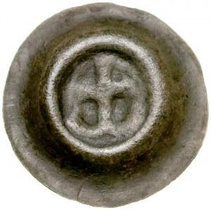 Pomorze Wschodnie, Mściwój II 1266-1294, Brakteat guziczkowy, Pomorze Gdańskie, Av.: Kotwica dwuramienna, RR