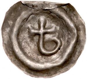 Pomorze Wschodnie, Mściwój II 1266-1294, Brakteat guziczkowy, Pomorze Gdańskie, Av.: Kotwica jednoramienna, RR.
