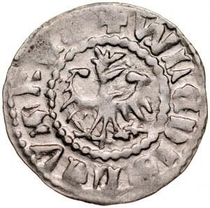 Władysław Jagiełło 1386-1434, Kwartnik ruski, Av.: Orzeł, RV.: Lew.