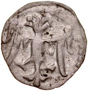 Ludwik Węgierski 1370-1382, Denar jednostronny, Kraków. Av.: Orzeł piastowski