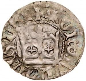 Władysław Jagiełło 1386-1434, Półgrosz, Kraków, Av.: Korona, Rv.: Orzeł jagielloński.
