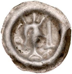 Przemysł II 1277-1297, Brakteat, Av.: Popiersie księcia z mieczem.
