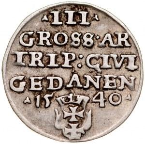 Zygmunt I Stary 1506-1548, Trojak 1540, Gdańsk.