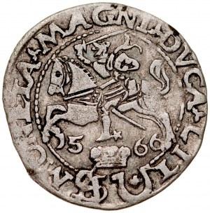 Zygmunt II August 1545-1572, Grosz na stopę polską 1566, Wilno. RRR.
