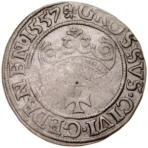 Zygmunt II August 1545-1572, Grosz 1557, Gdańsk.
