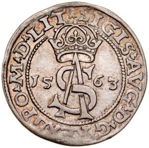 Zygmunt II August 1545-1572, Trojak 1563, Wilno.