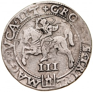 Zygmunt II August 1545-1572, Trojak 1562, Wilno. RR.