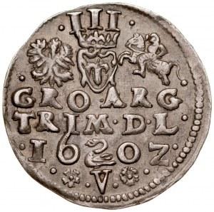 Zygmunt III 1587-1632, Trojak 1602, Wilno, RR.