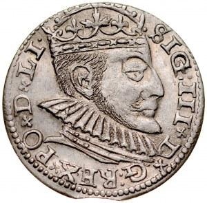 Zygmunt III 1587-1632, Trojak 1590, Ryga, R!.