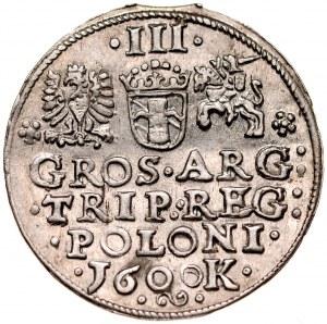 Zygmunt III 1587-1632, Trojak 1600, Kraków.