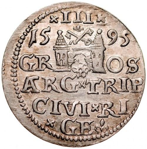 Zygmunt III 1587-1632, Trojak 1595, Ryga.