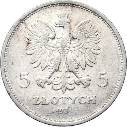 Polska, II RP, Nike, 5 złotych 1931, Warszawa, rzadki rocznik